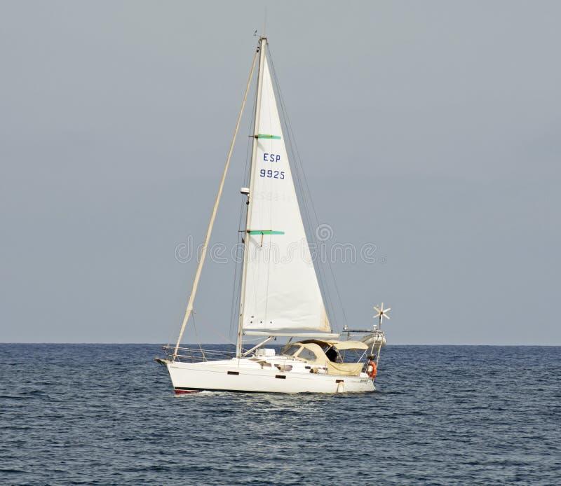 在地中海的游艇 库存图片