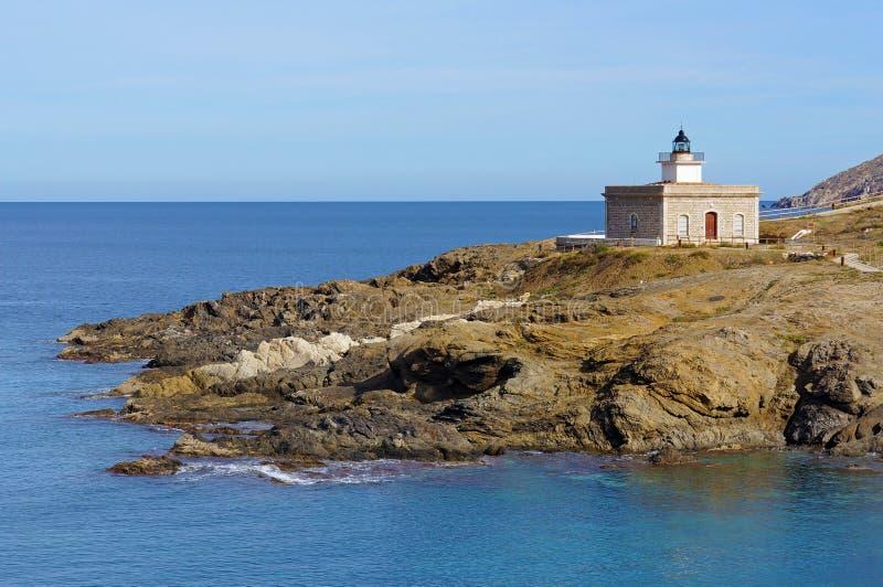 在地中海肋前缘Brava的灯塔 库存照片