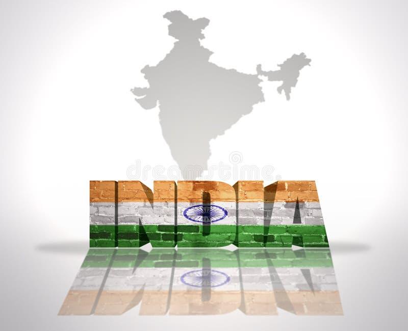 在地图背景的词印度 皇族释放例证