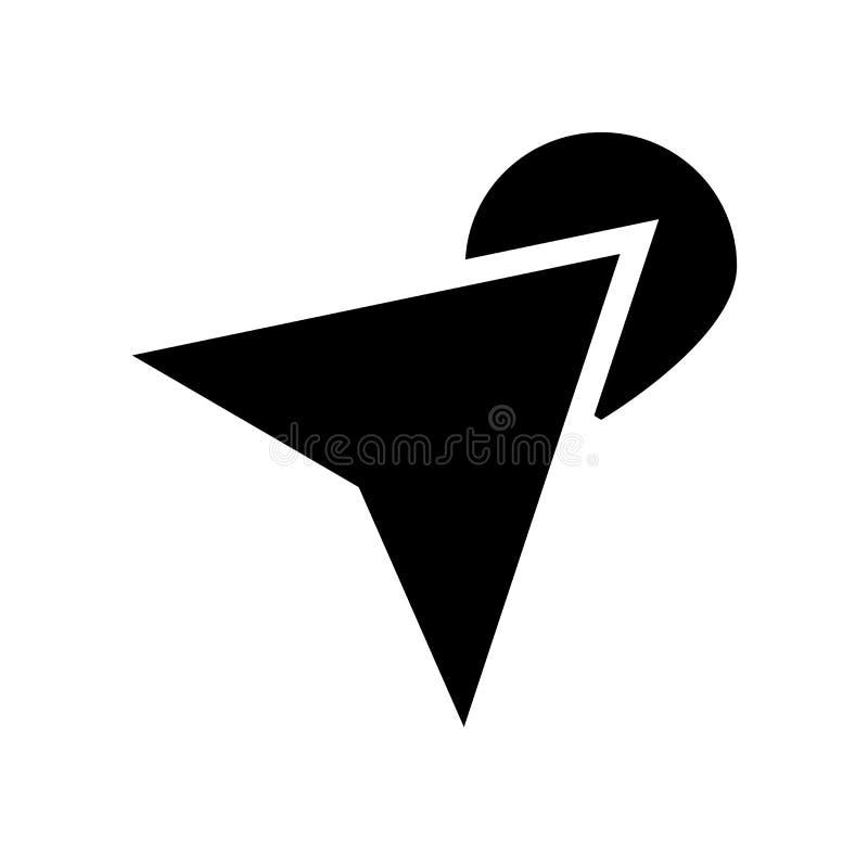 在地图象的箭头 在地图商标概念的时髦箭头在白色bac 库存例证