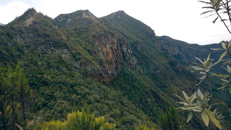 在地堑,肯尼亚的山Longonot 库存图片