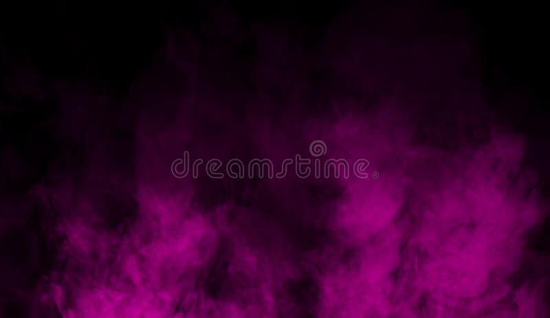 在地板上的紫色烟 被隔绝的纹理覆盖背景 免版税库存图片