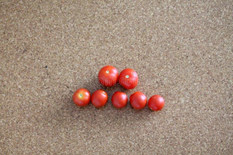 在地板管的蕃茄 图库摄影