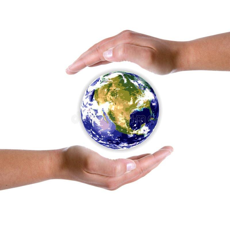 在地球环境附近地球递本质 图库摄影