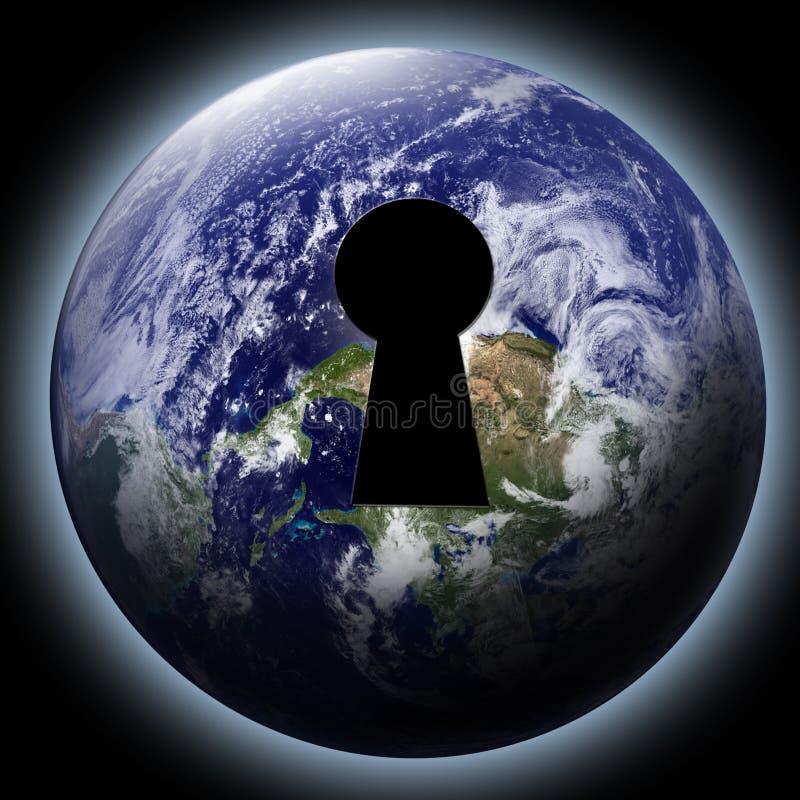 在地球的匙孔 库存例证