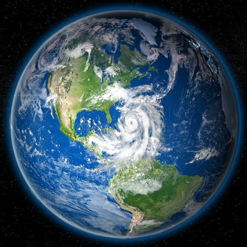 在地球的飓风马修 皇族释放例证
