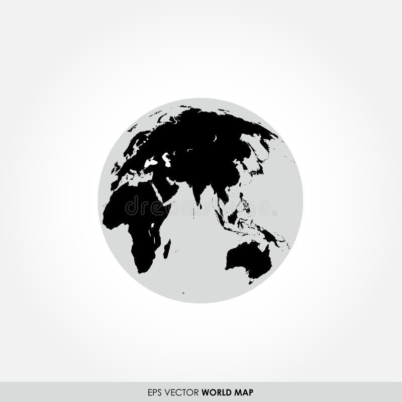 在地球象的世界地图 皇族释放例证