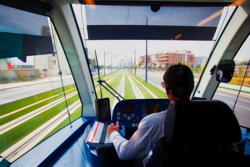 在地铁上在Zaidin,格拉纳达, España 免版税库存照片