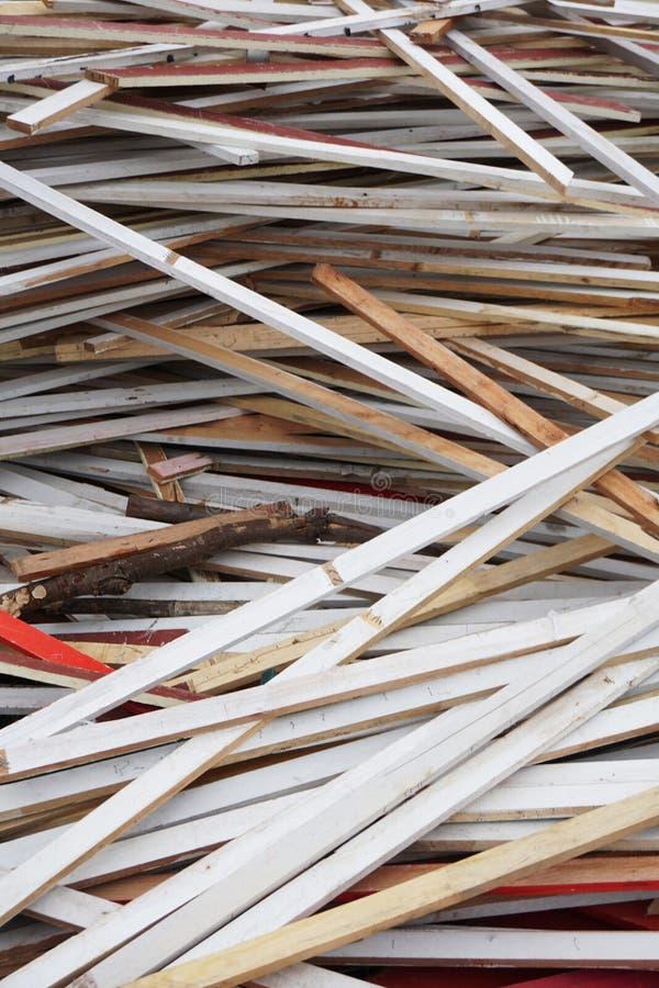 在地面上的干燥胶合板 免版税库存照片