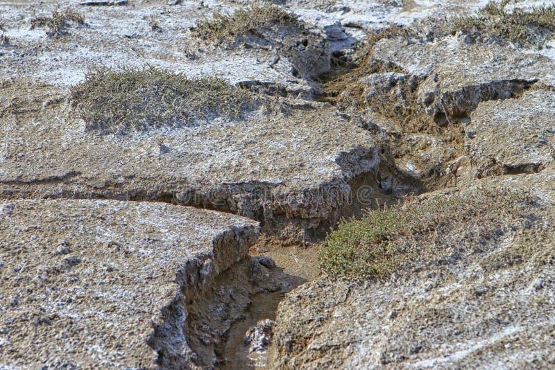 在地面上的深侵蚀镇压 免版税库存图片