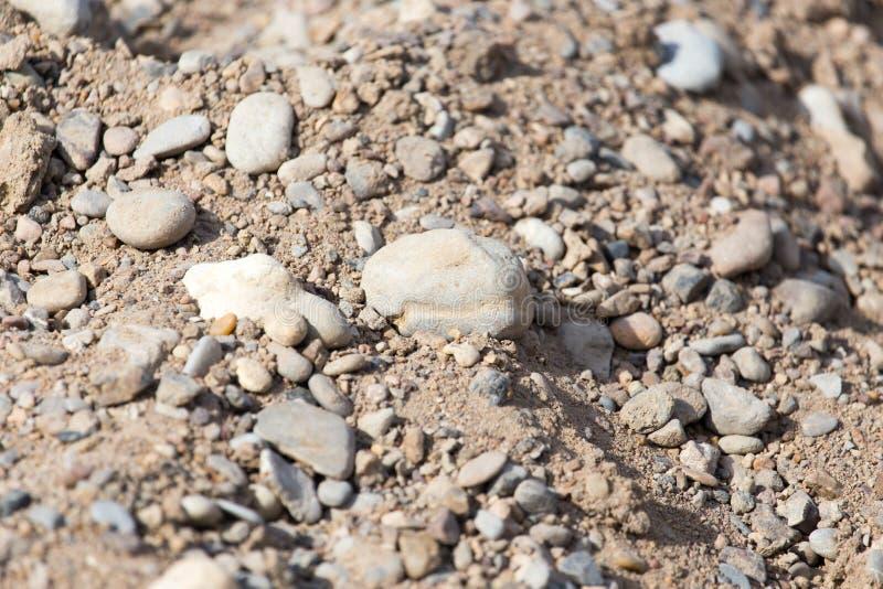 在地面上的石头 免版税库存图片