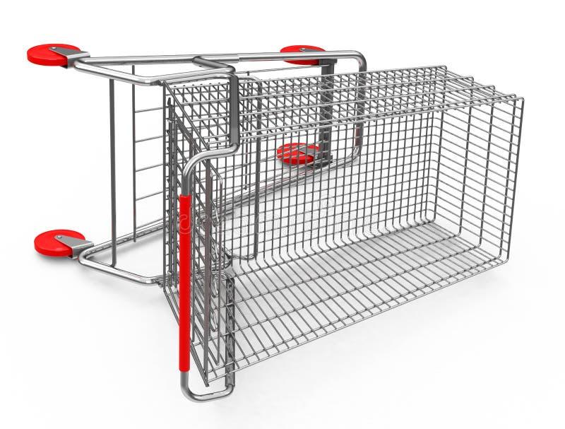 在地面上的购物车 库存例证