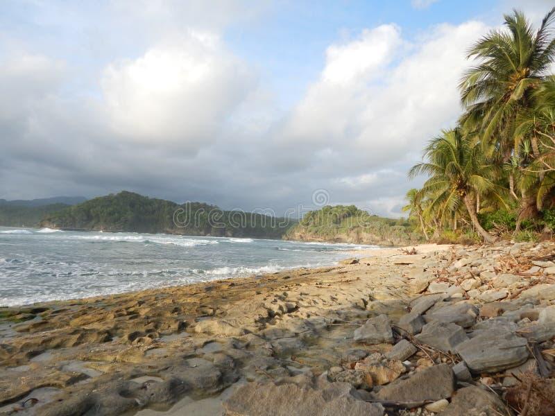 在地面印度尼西亚人的日落 库存图片