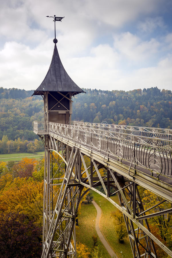 电梯在萨克森瑞士 免版税图库摄影