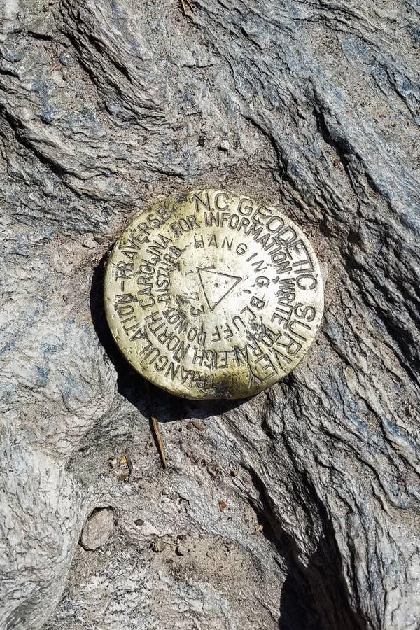 在垂悬的岩石国家公园的地理标志 免版税库存图片