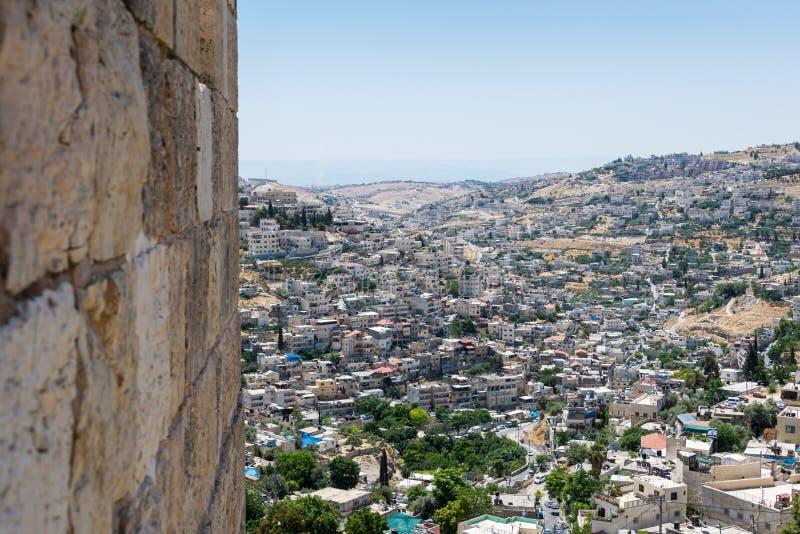 在垒步行在耶路撒冷 库存图片