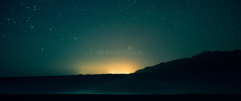 在埃及天空的星形 图库摄影