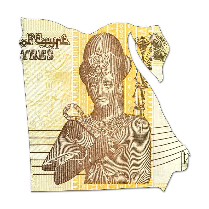 50在埃及的形状的埃及磅钞票 图库摄影