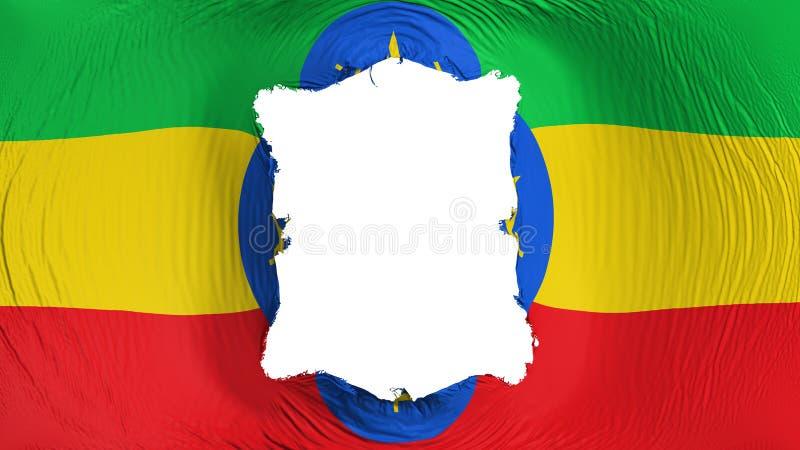 在埃塞俄比亚旗子的方孔 皇族释放例证