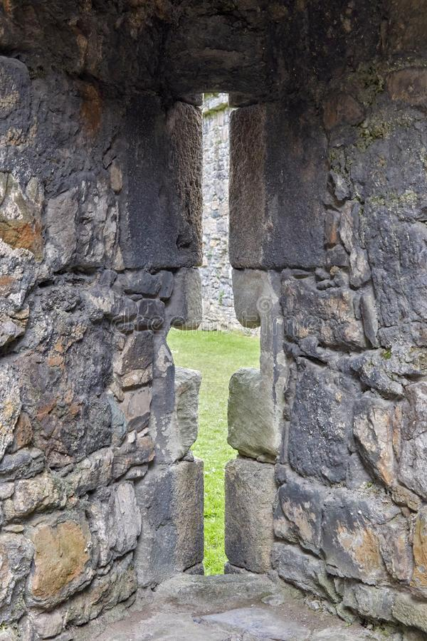 在城堡的漏洞 免版税库存照片