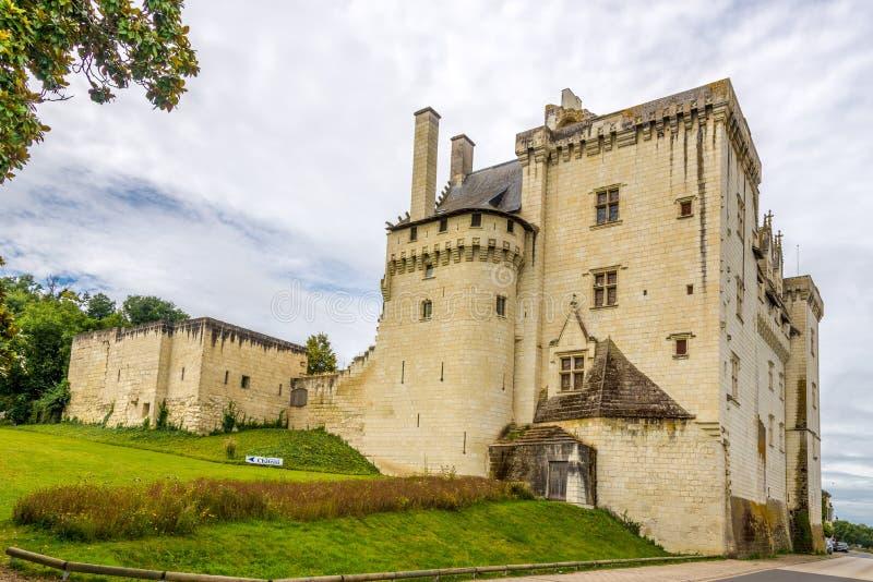 在城堡的看法在Montsoreau 图库摄影