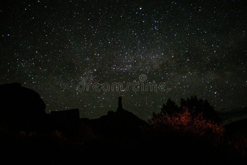 在城堡谷,默阿布犹他的星 库存照片
