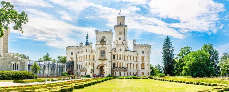 在城堡Hluboka的全景在捷克 库存图片