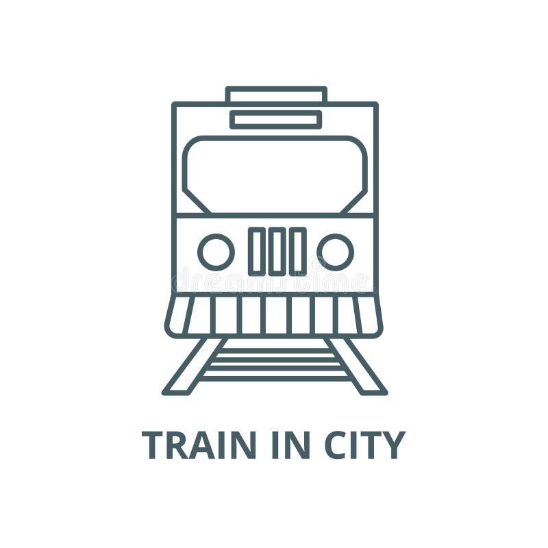 在城市传染媒介线象,线性概念,概述标志,标志的火车 皇族释放例证