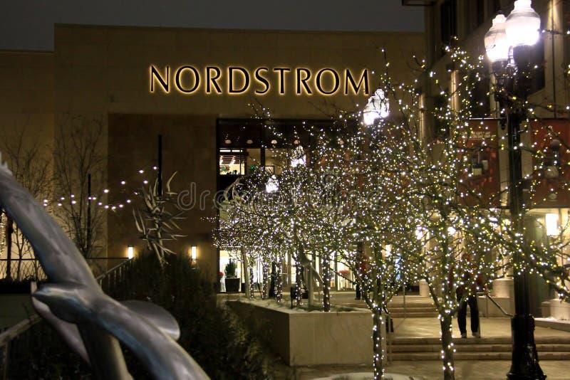 在城市小河广场的Nordstrom在盐湖城 库存图片