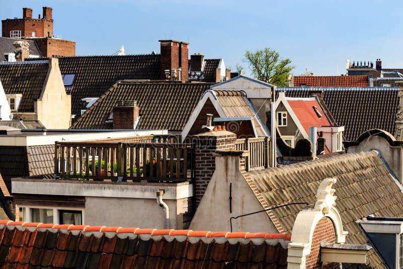 在城市的屋顶上 免版税库存图片