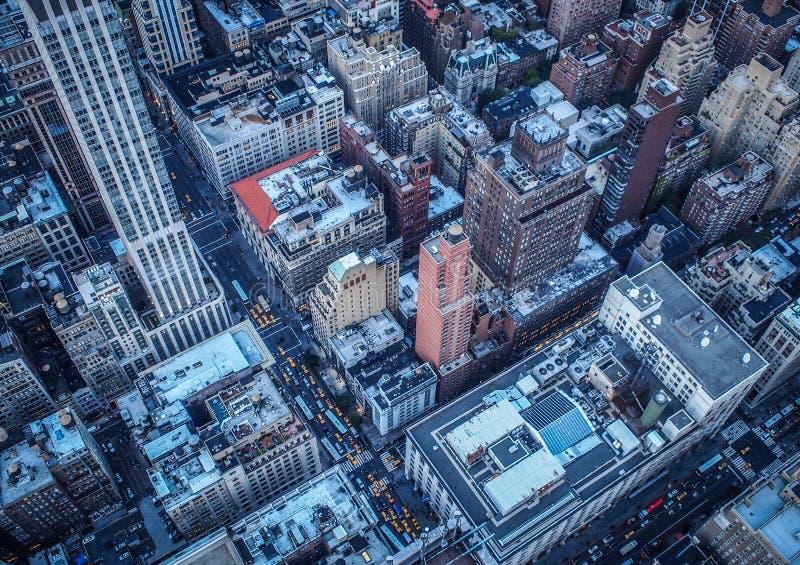 在城市纽约之上 库存图片