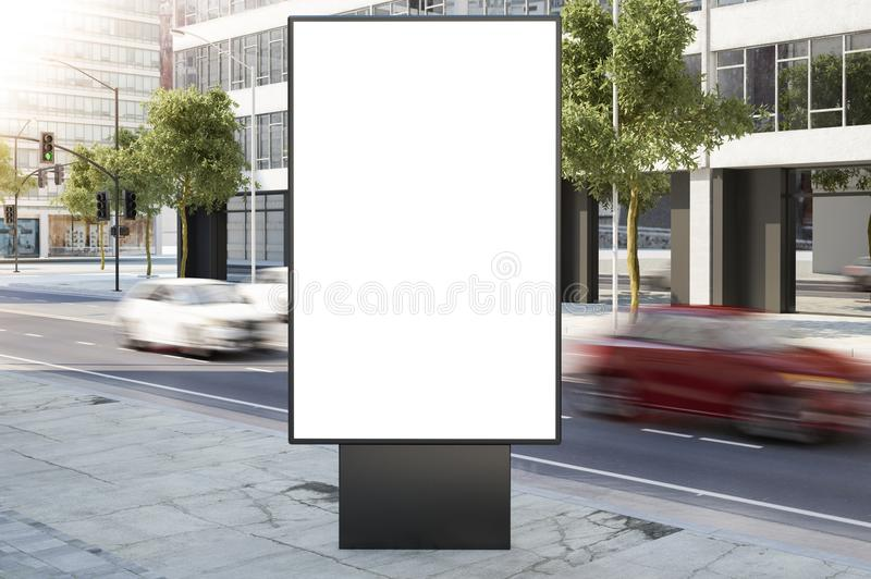 在城市街道的广告牌 库存图片