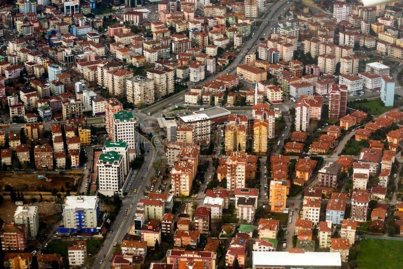 在城市视图之上 免版税库存照片