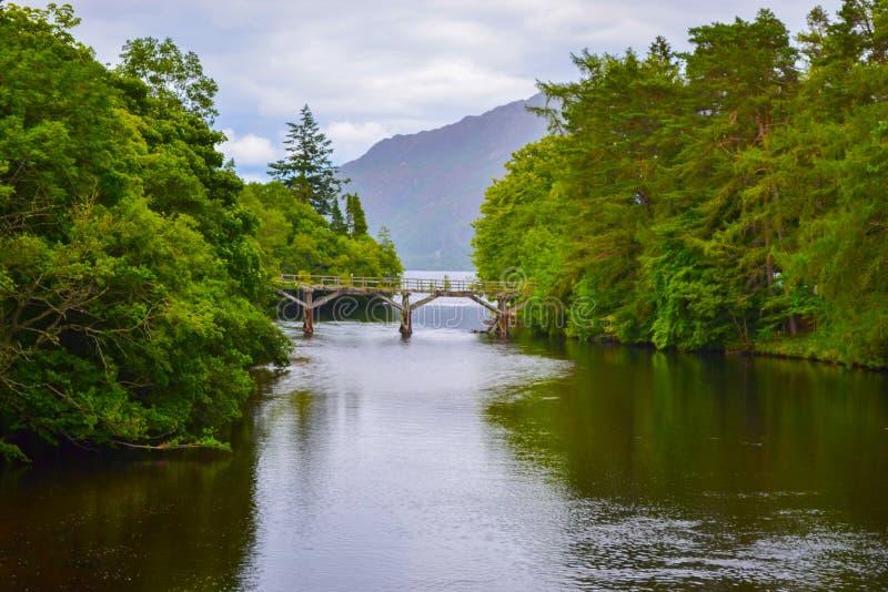 在堡垒奥古斯都的古苏格兰运河,在高地苏格兰, U 免版税图库摄影