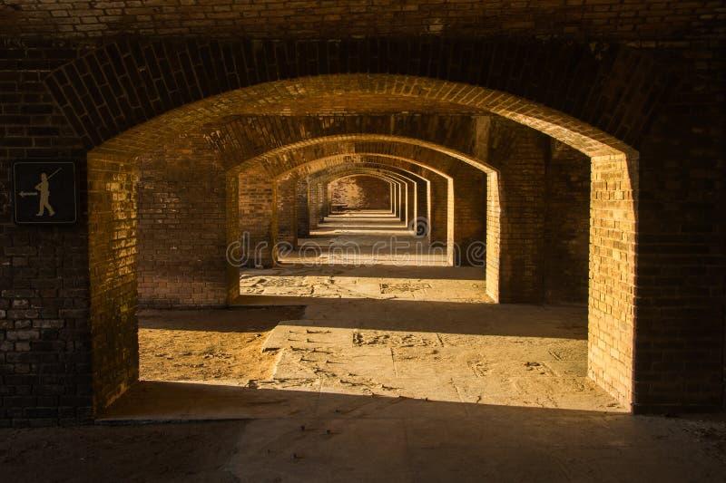 在堡垒杰斐逊的废墟 图库摄影