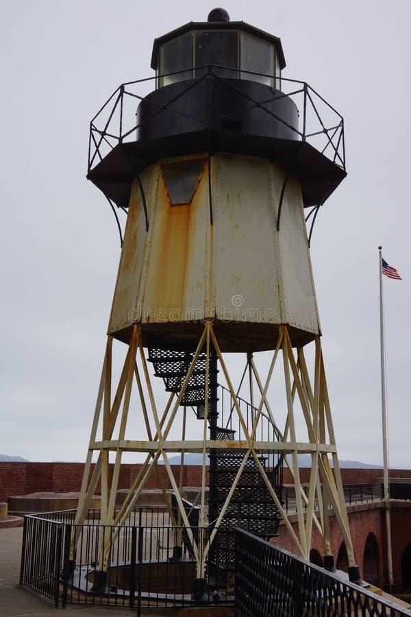 在堡垒点旧金山经营的灯塔 库存照片