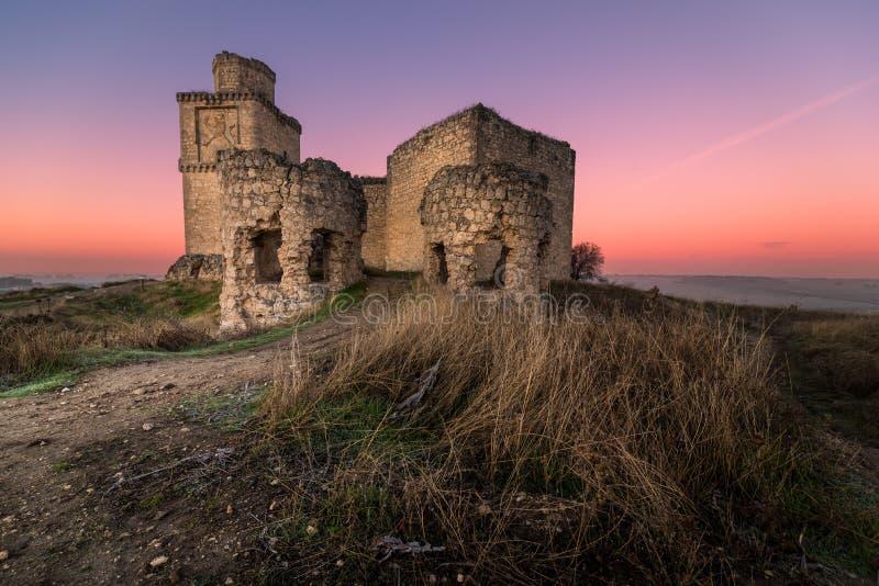 在堡垒的日落 免版税图库摄影