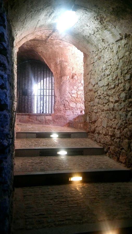 在堡垒Dalt维拉,伊维萨岛里面 库存图片