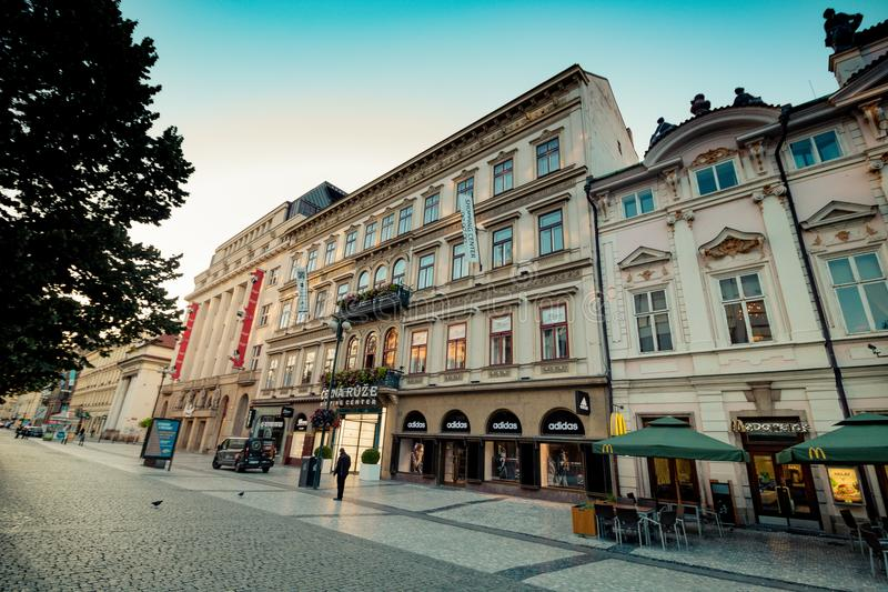 在堤堰Na PÅ™ÃkopÄ›在老镇布拉格,捷克 库存照片