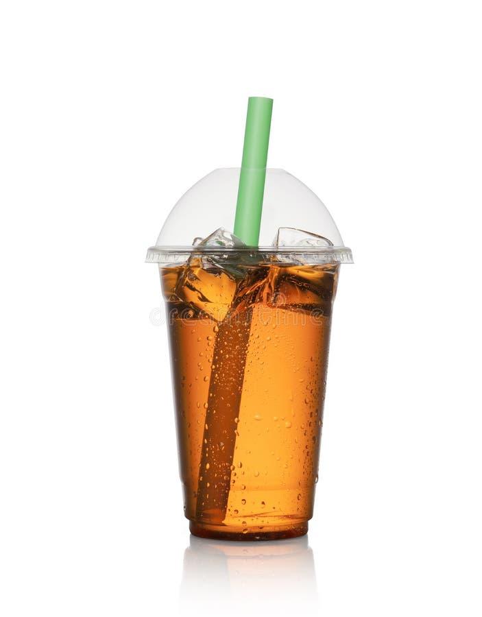 在塑料杯子的柠檬水 免版税库存图片