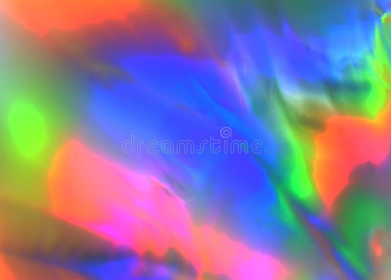 在塑料的五颜六色的荧光的抽象陈列重音发行 免版税库存图片
