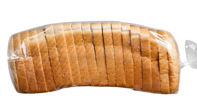 在塑料袋的面包 库存图片