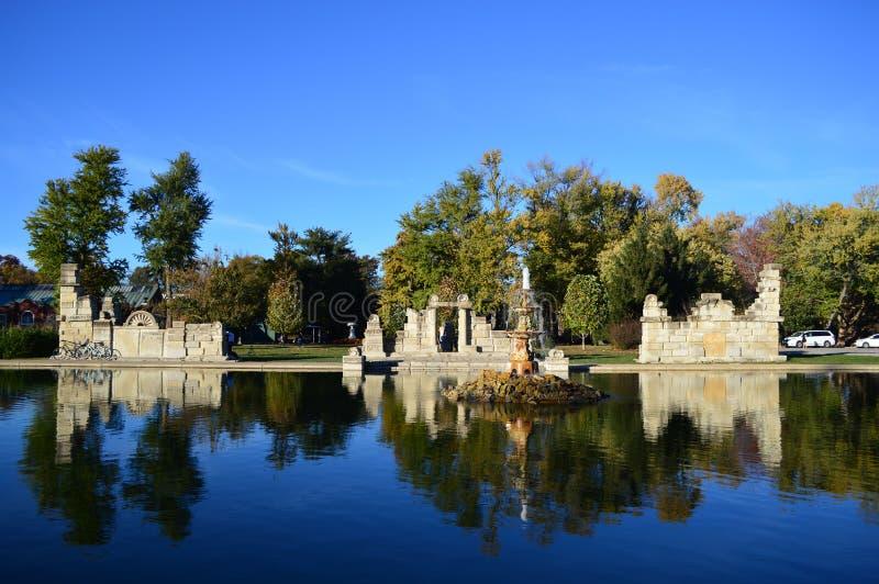 在塔树丛公园的秋天 免版税库存照片