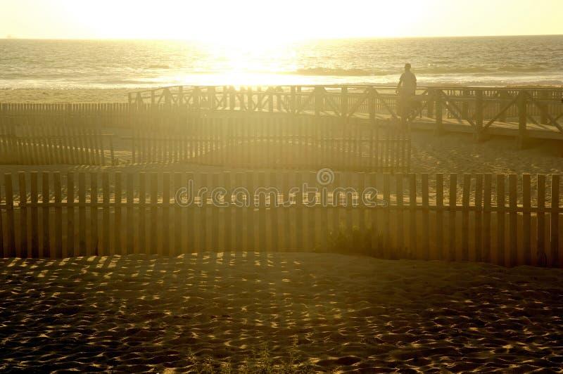 在塔里法角海滩,卡迪士普罗文的Sunsire;安达卢西亚 免版税库存照片
