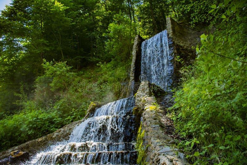在塞尔维亚的南部的瀑布 免版税库存图片