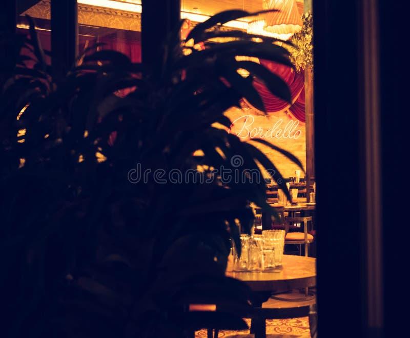 在塞浦路斯的咖啡馆 免版税图库摄影