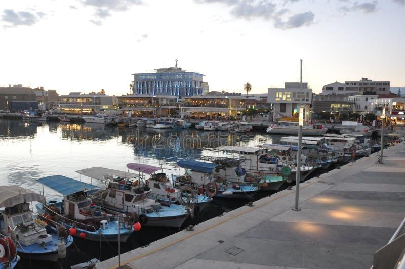 在塞浦路斯的美好的旧港口利马索尔 免版税库存照片