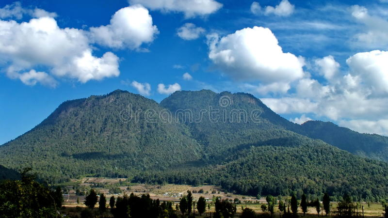 在塞罗Pelon,墨西哥附近的山 免版税库存图片