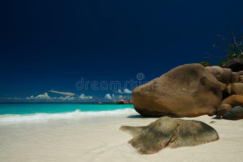 在塞舌尔群岛的梦想 免版税库存照片