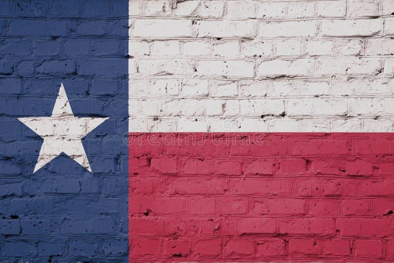 在墙壁上得克萨斯旗子纹理  库存例证